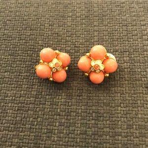 Joan Rivers Coral Earrings